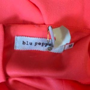 Blu Pepper Tops - Blue Pepper Bright Orange Tank Top